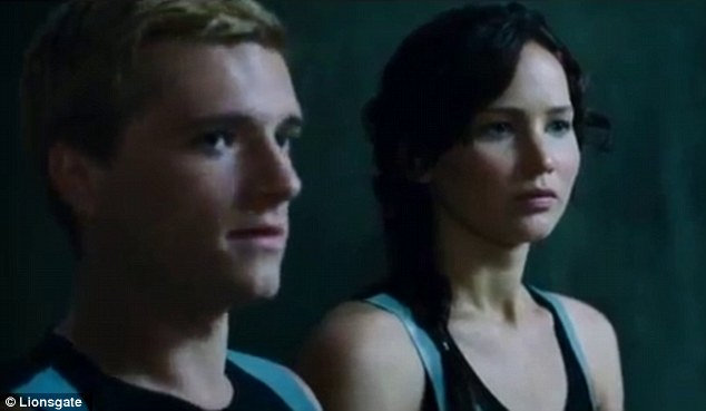 Tension building: Peeta grows more despondent over the lack of real romance with Katniss
