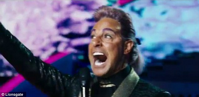 Talking head: Stanley Tucci returns as Caesar Flickerman the media mouth-piece for the games