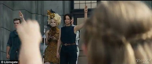 Torn apart: Katniss is once again separated from her sister Primrose Everdeen