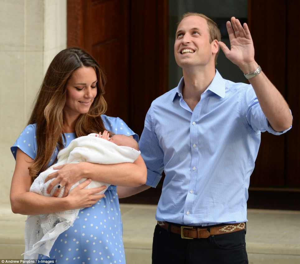 Historic: The name George is synonymous with British kings and has come to represent the continuity of the monarchy