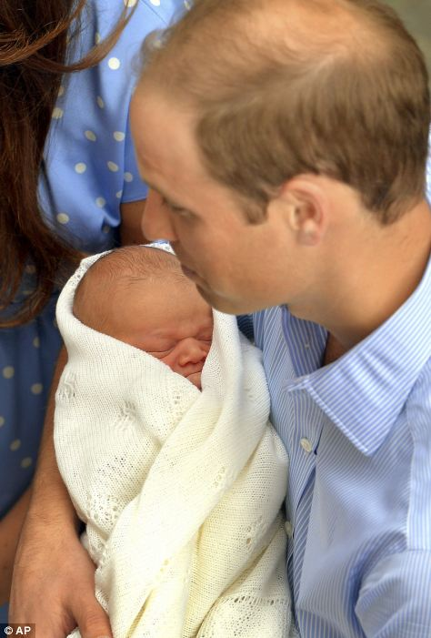 Prince William with his son