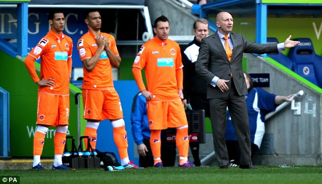 Good times: Ince says he enjoyed playing under Ian Holloway at Blackpool
