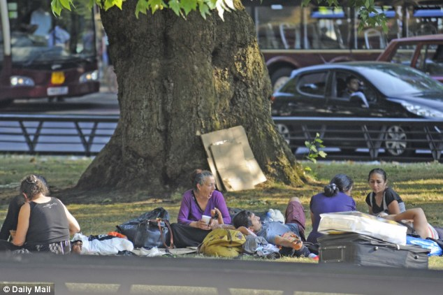 Bad news: Local police blame the group of Romani gypsies for a surge in begging, pickpocketing, shoplifting and anti-social behaviour in central London