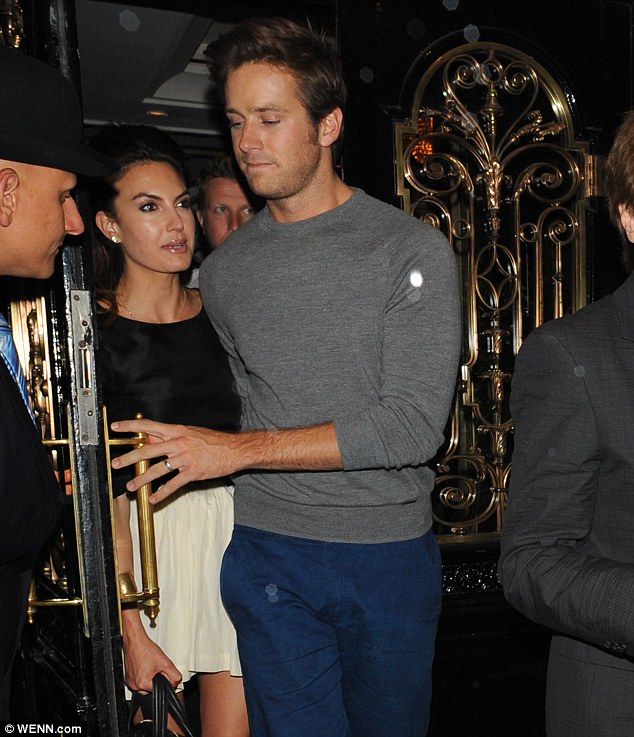 Young love: Armie married his wife Linda when he was 23