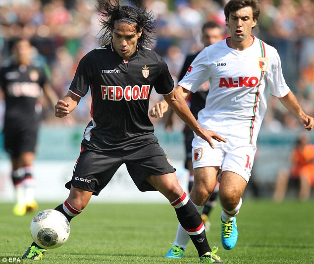 Falcao in action for Monaco