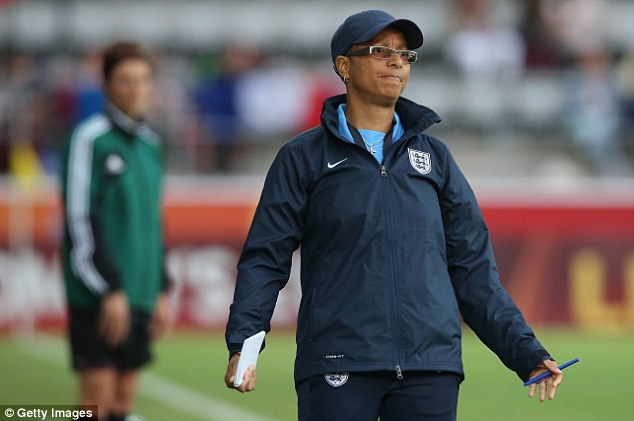 Poor excuse: Hope Powell watched her England side crash out of the European Championships
