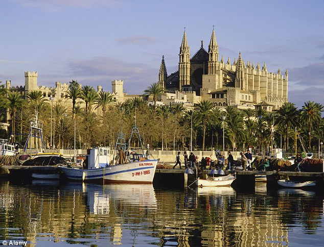 Beautiful: The deputy mayor of Palma, pictured, wants to attract higher-spending tourists to the holiday island