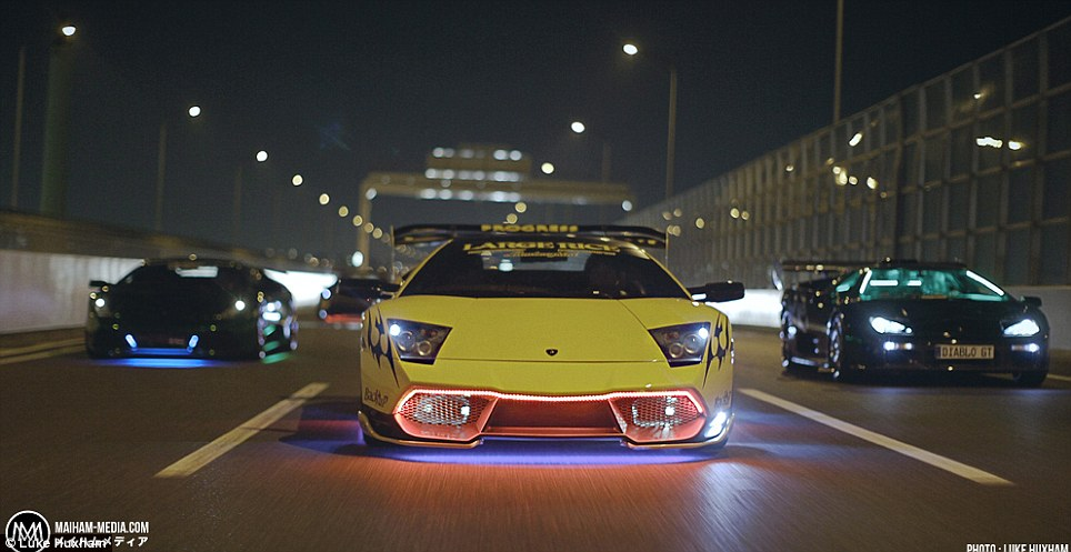 This is the modified Lamborghini Diablo driven by Morohoshi-san, from Kabukicho, Tokyo's 'entertainment district' is one of the stars of a new mini documentary about the chosen ride for associates of the infamous Yakuza mafia