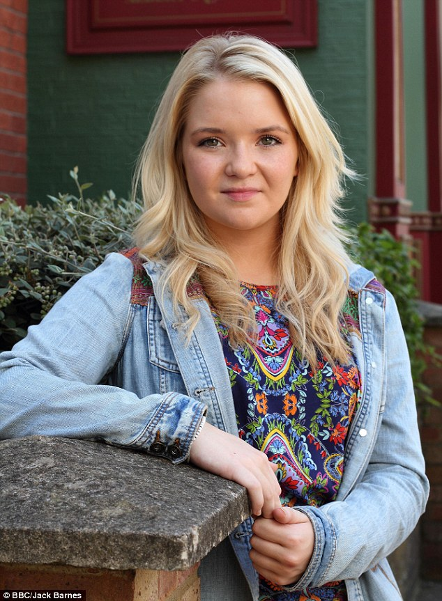 Abi Branning, played by Lorna Fitzgerald shot a last-minute scene hours after the royal baby's arrival on Monday night