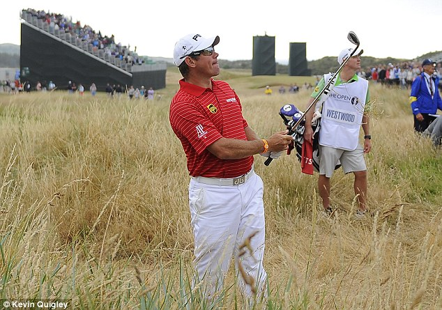 In the long stuff: Westwood held a three-shot lead going into the final day at Muirfield