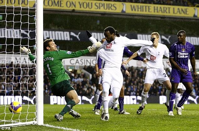 Glory days: Chimbonda had two spells at White Hart Lane