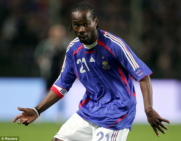 International: Chimbonda won one cap for France and was an unused member of the 2006 World Cup squad