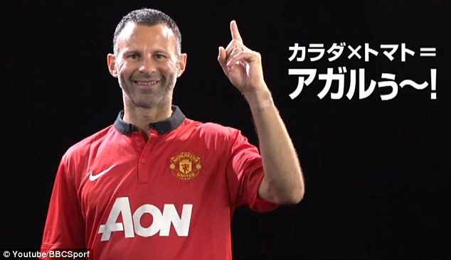 Number one tomato juice! Giggs injects some enthusiasm to the advert