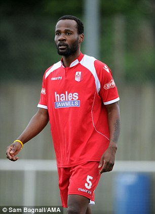 Tasting defeat: Chimbonda could not prevent Market Drayton losing 3-2 to a Notts County development side