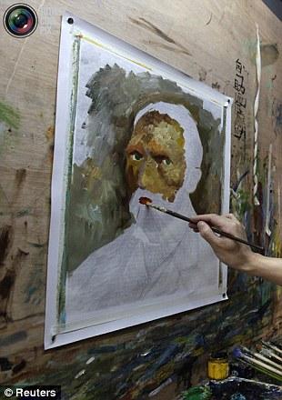 Chinese artist paints Van Gogh