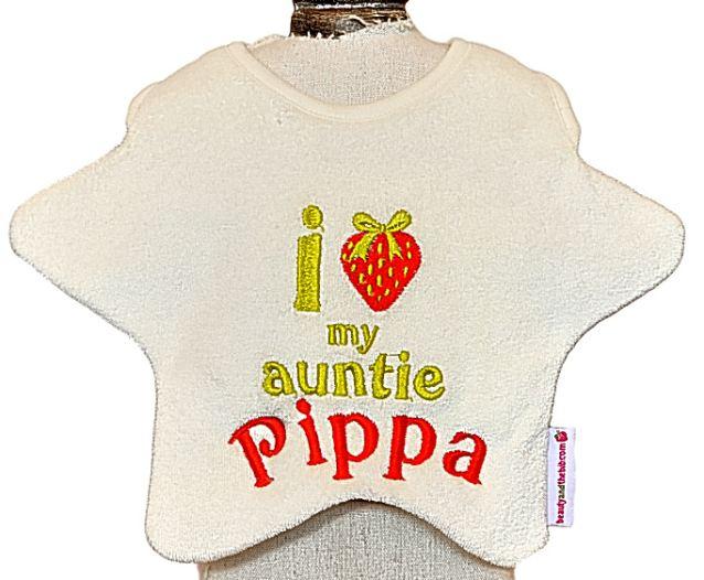 Memorabilia includes this £13.50 bib which says 'I love my Auntie Pippa'