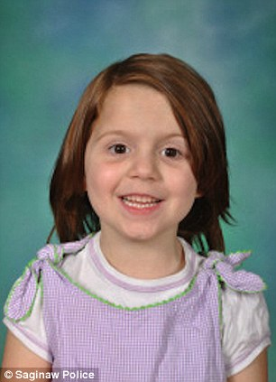 Tragic: Six-year-old Alanna Gallagher was found bound and gagged. The youngster had been raped