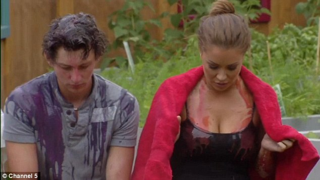 Sam and Hazel after their gunging on Tuesday