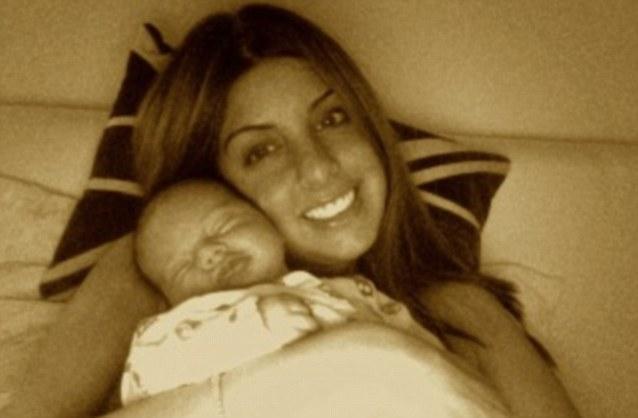 Monica Bouic with 1 week old baby Layla