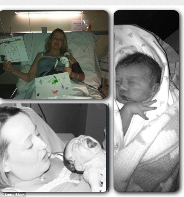 Laura Black sent in this photo collection of her experience of birth