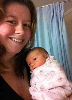 Rebekah's first photo with her newborn daughter, Keturah. 'I was incredibly exhausted but so elated to be a mummy. My daughter was perfection at 6 pounds 8 ounces'
