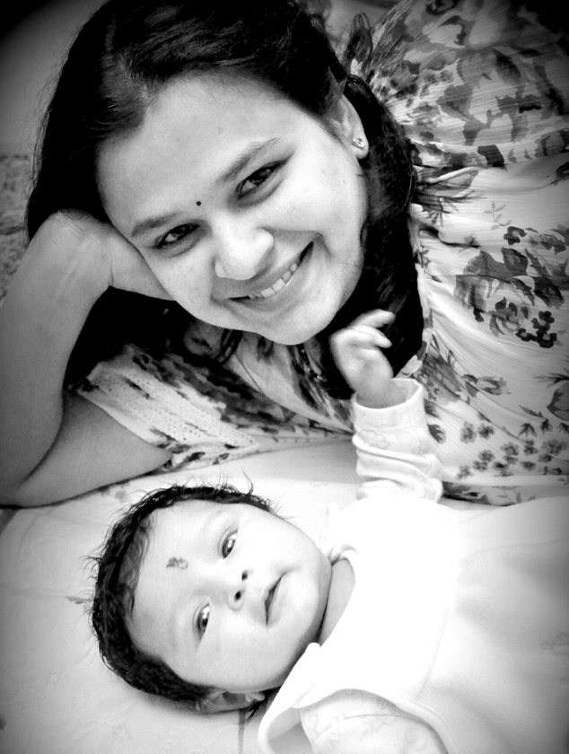 Samvrutha with her mother, Mrs Girish, sent in by husband Roopa Girish