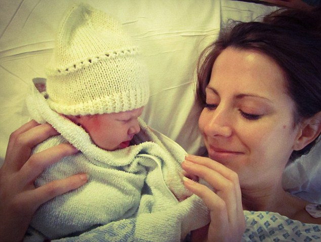 The first photo of Gemma and her baby son Lawrence. 'This was straight after he was born and I was so overwhelmed with emotion I immediately forgot the 24 hr difficult labour,' she says. 'We also got married on the same day as the Duke and Duchess and often as a couple get compared to them. But we don't think we need to worry about them calling their son Lawrence -  that would be weird!'