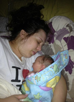Catherine Tilson with new born baby Lillian