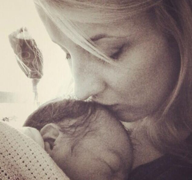 Emma Phillips and her son Harrison who was born 2 and a half weeks early on 1st July