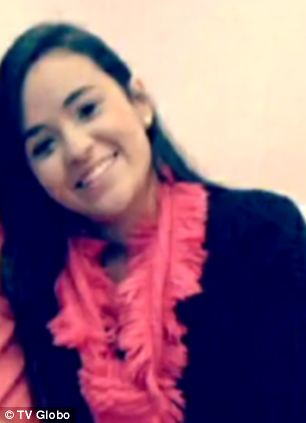 Killed: Bruni Gobbi, 18, died swimming at Boa Viagem beach in the northeastern Brazil city of Recife on Monday