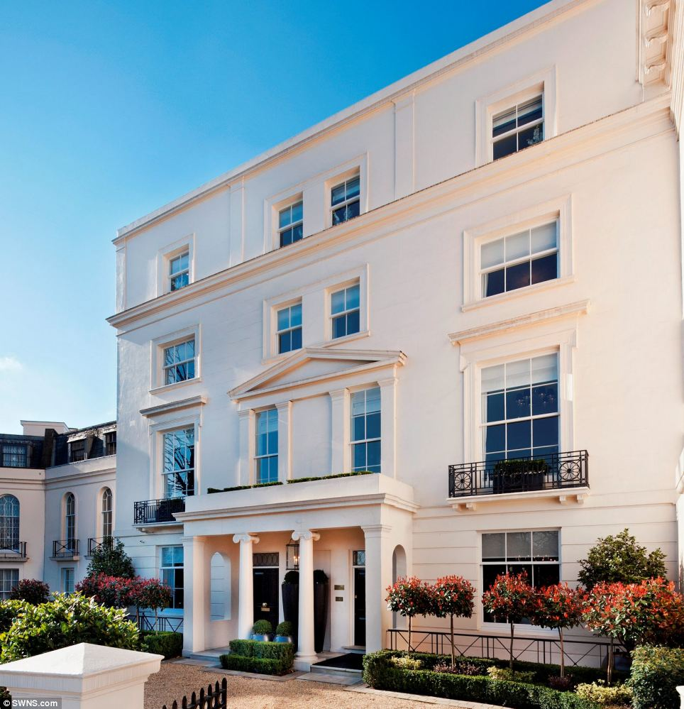 No. 20 Cornwall Terrace is one of the properties going for 170 times the average price of a new home