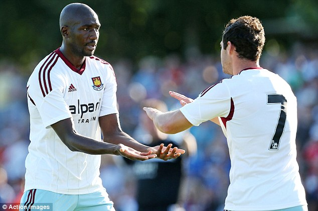 Preparing for new season: The Hammers are currently on a pre-season tour in Germany
