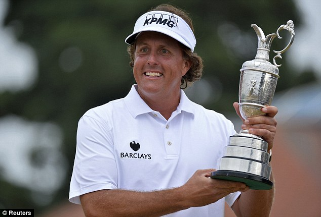 On a roll: Phil Mickelson will tee it up at Oak Hill after winning The Open at Muirfield