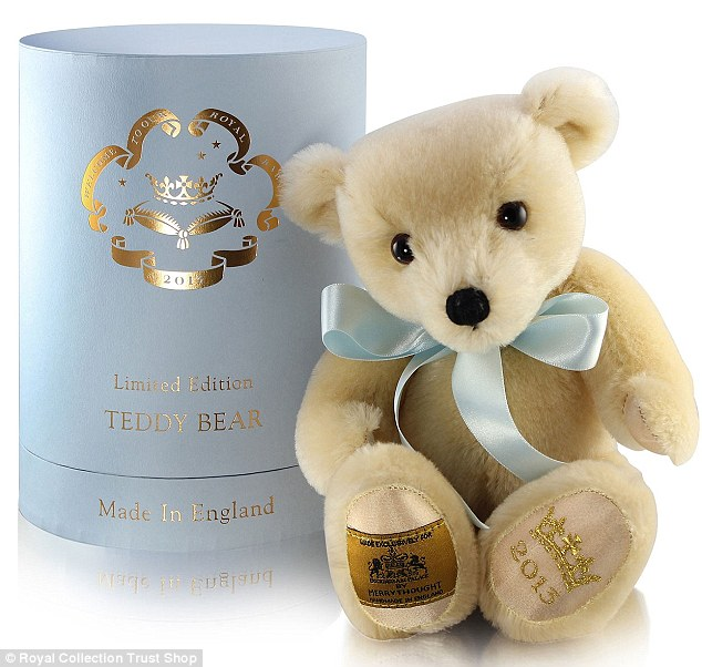 """A limited edition royal product is a 10"""" teddy bear, retailing for £95"""