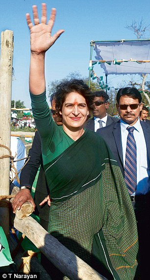 Under new management: Priyanka Gandhi Vadra has taken over the Congress party's affairs in Amethi