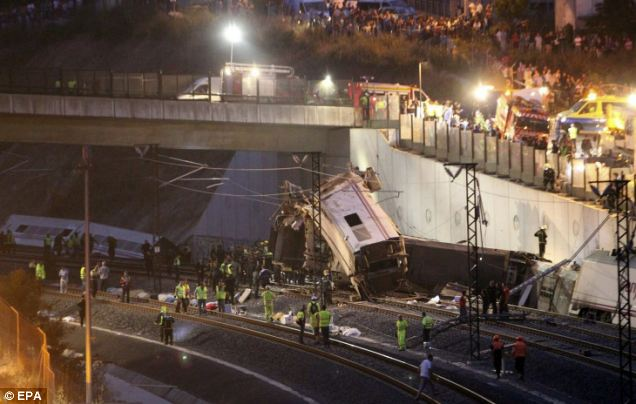 Search effort: Rescue efforts were continued throughout the night following the train crash