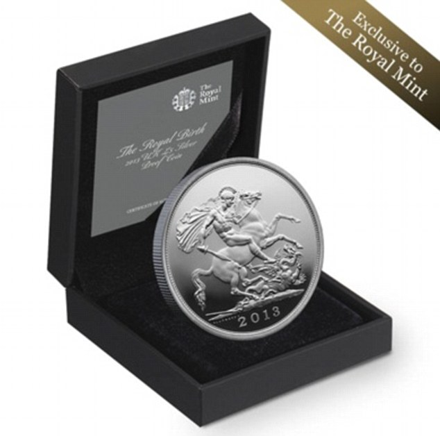New arrival: The  rrival of Prince William¿s first child is also being marked with a commemorative coin