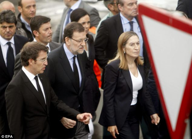 Declaration: The Spanish Prime Minister declared three days official mourning throughout Spain