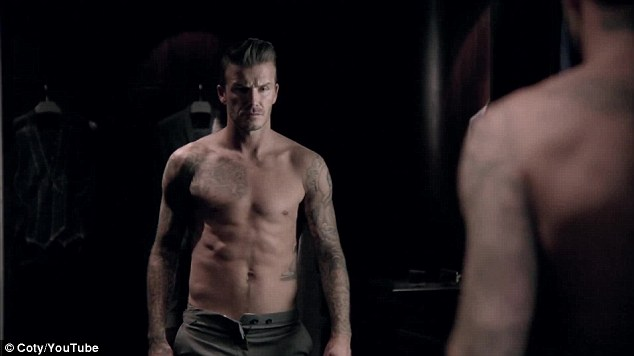 Athletic: David Beckham posted the advert for his latest fragrance - in which he strips off his shirt - on his YouTube channel