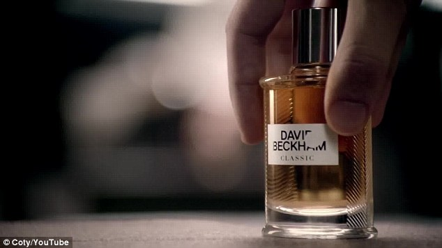Good to go: The advert for the footballer's latest aftershave advises viewers to 'revise your classics'