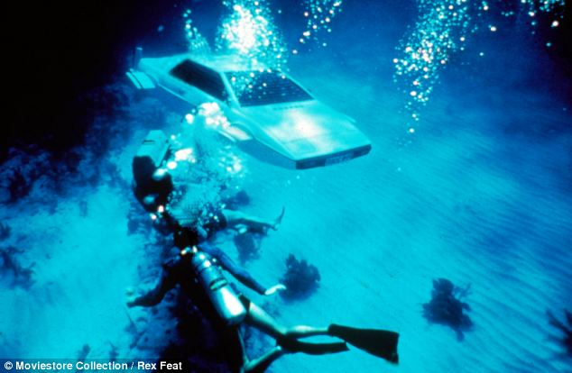 James Bond films have a history of underwater vehicles, including the Lotus Esprit, pictured, featured in 1977 Bond film The Spy Who Loved Me