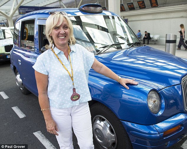 You'll never guess who I had in my cab! Taxi driver Tracey Mitchell said she cannot stop talking about picking up the Middletons after they met baby George
