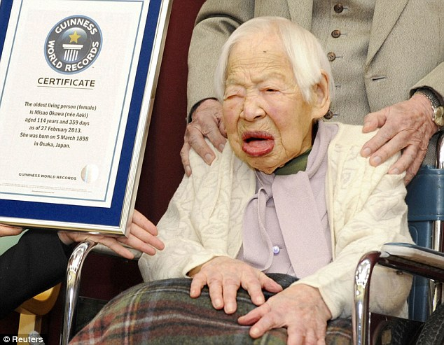 The world's oldest person is Japan's Misao Okawa, 115