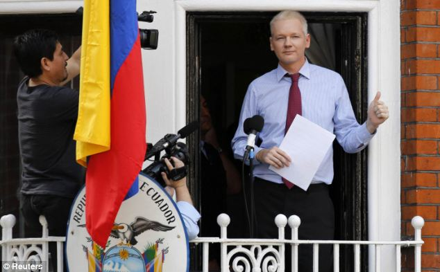 The 41-year-old has spent more than a year in the Ecuadorian embassy in London, where he has avoided extradition to Sweden for questioning over sexual assault allegations