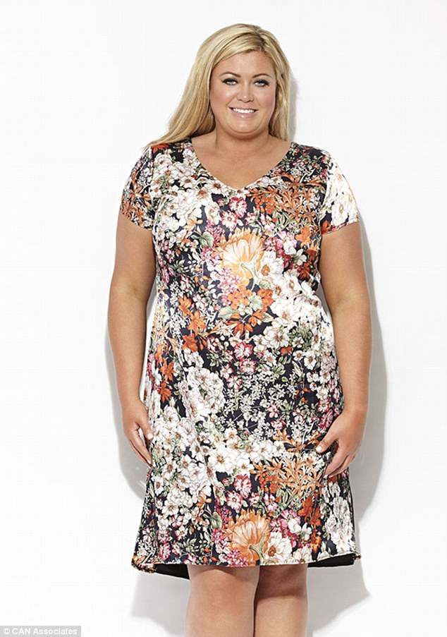 Flower power: Gemma was inspired to open the boutique by her mother who found it hard to find plus-size clothes on the high-street (Shaghai dress, £60)