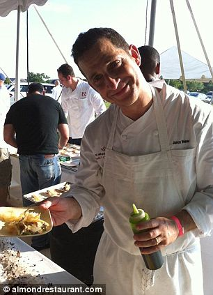 Damage control: Anthony Weiner (seen left at a kitchen event on Thursday) reportedly had his brother Jason (a professional chef, at right) talk to Leathers about the status of their virtual affair