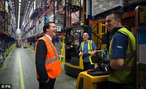 The economy is looking healthier, but George Osborne (who spent the small hours with construction workers) was right to stress that Britain is not out of the woods