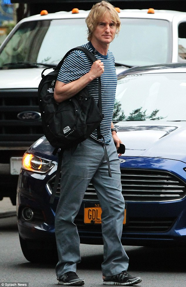 Fashion Owen goal: Wilson was looking far from his best in this eye-rollingly dull ensemble