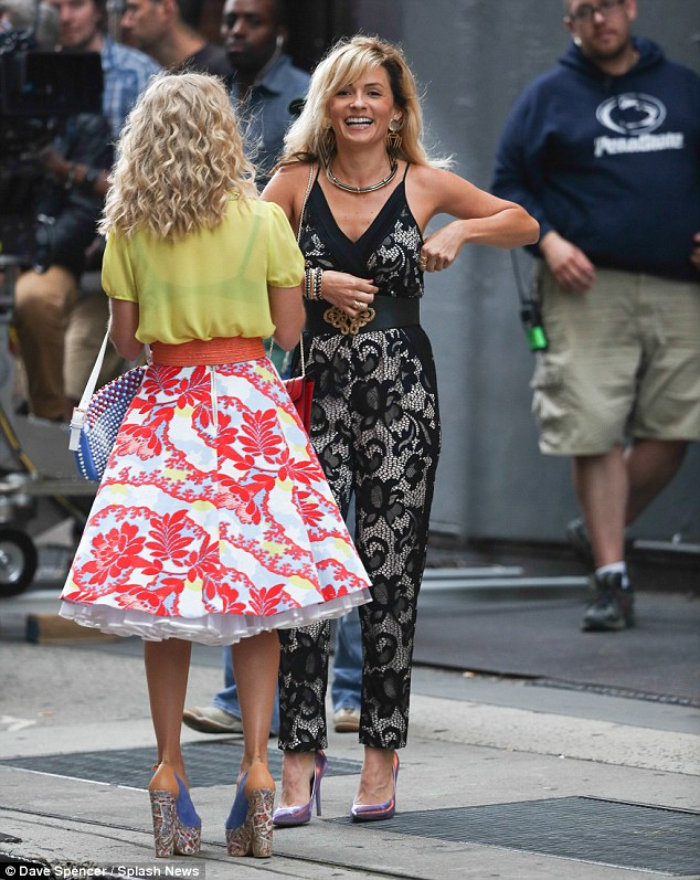 So much fun: Lindsey laughed and joked with AnnaSophia even when the cameras weren't rolling