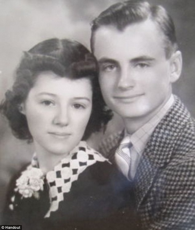 Teenage dreams: Helen and Les met in high school and eloped after their parents disapproved of them getting married. They were together for 75 years and never spent a day apart, their son said